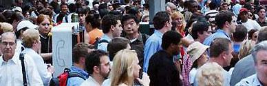 Bild einer Menschenmenge in New York